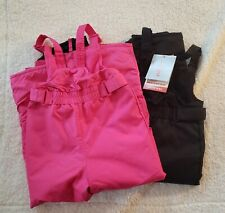 2 pack Cat and Jack snow bibs size 5-T pink and black New with tags