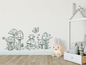 Woodland wall sticker for childrens nursery decor