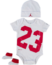 Nike AIR JORDAN Jumpman23 Collection - Baby 3pcs Outfit Set White/Red 0-6 months