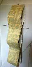 HANDMADE TOILET ROLL HOLDERS DESIGNERS GUILD FABRIC IN PALE YELLOW FOR 3 ROLLS