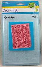 HOLLY RIBBONS Cuttlebug 5x7 Inch Embossing Folder Christmas Emboss