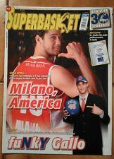 SUPERBASKET Anno XXXI n. 27 - 2008 - OLIMPIA 'ARMANI JEANS' MILANO - GALLINARI