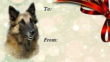 Belgian Shepherd Dog (Tervueren) Self Adhesive Gift Labels by Starprint