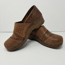 Sanita Annabelle $120 Danish Clog Shoes Sz EU 41 US 10 Brown Leather Suede