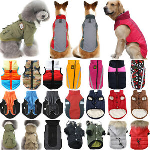Pet Dog Puppy Winter Padded Jacket Fleece Coat Vest Clothes Apparels Cute Hooded