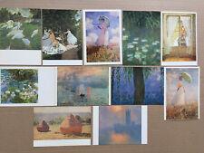 Lot  11  Cartes Postales  Tableaux   CLAUDE MONET   Peinture Impressionisme
