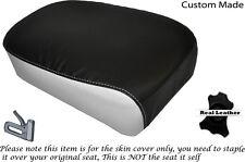 Diseño 2 Blanco & Negro Custom encaja Suzuki Gz 125 Marauder Trasero Lether cubierta de asiento