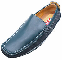 MENS TEAL BLACK SLIP-ON SMART COMFY DRIVING BOAT DECK SHOES CASUAL PUMPS UK 6-11