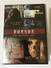 4 Film Horror Collection Set Dvd Live Animals,Roman,wages Of Sin,skeleton Man