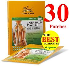 30x LARGE 10 x 14cm Tiger Balm Pain Relief Plaster - Cool 30 patches