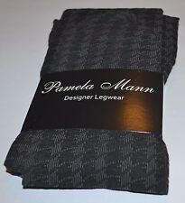 Designer Tights,Pamela Mann Grey Dogstooth Tights,Punk/Goth Burleslesque Fashion