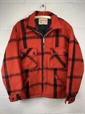 RARE Vintage FOX KNAPP Wool Hunting Field Jacket Coat Men's Medium USA Talon Zip
