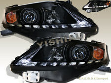 Fit For  2010-2012 Black Housing Lexus RX350 Projector Headlights w/ LED Strip