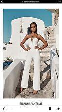 White / Ecru Renesmees Brianna Stunning  Jumpsuit