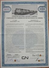 1976 Railroad Bond Certificate: Canadian National Railway - $1000