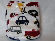 New Cloth Pocket Diaper Nappy MINKY Cars Microfiber Insert Boy/Girl EB0625