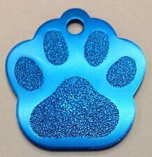 10 Bulk ID Wholesale Paw Print Pet identification tags Anodized Aluminum #1USA