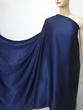 Dark Blue Pure Silk Satin Charmeuse Fabric per Meter Acrylic Button