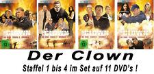 11 DVDs * DER CLOWN - DIE SERIE - STAFFEL 1 - 4 IM SET # NEU OVP §
