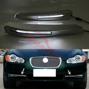 2PCS LED Fog/Driving Lights Daytime Running Light For Jaguar XF 2008-2010