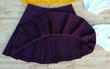 New Adult S Dark Maroon Cheerleader Uniform Pleat Skirt 25-26 Schoolgirl Cosplay
