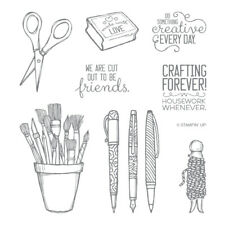 """Stampin' Up! """"Crafting Forever"""" Cling Stamp Set (Retired) - NEW"""