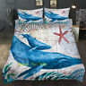 Whale Map Single/Double/Queen/King Size Bed Quilt/Doona/Duvet Cover Set