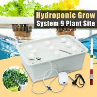 9 Plant Sites DWC Hydroponics Grow Deep Water Culture Bubble Kit Indoor  -