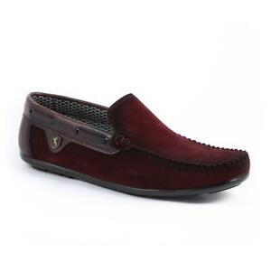 Mens Loafers Brown Smart Slip On Driving New Shoes Casual Moccasin UK Size 44