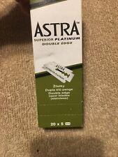 Astra Superior Platinum Double Edge Razor Blades 99 Count Open Box Missing 1