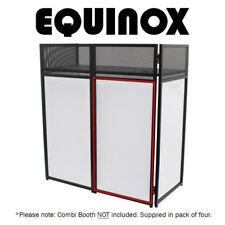 More details for equinox combi booth system dj disco stand replacement white lycra set (x4)