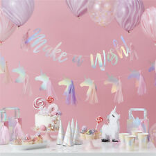 unicorn tassel banners party decorations birthday banner bunting garland flags%