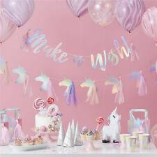 unicorn tassel banners party decorations birthday banner bunting garland flag SE