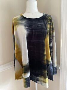 ALEMBIKA Velvet Lagenlook Velour Tunic Top Sz S Small (Generous) Art To Wear