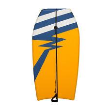 41''Lightweight Bodyboard w/ Wrist Leash Yellow Bodyboard Ocean Water Sport Foam
