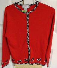 Castles Sport Long Sleeve Front Open Georgia Bulldog Women Red Blouse Size M/L