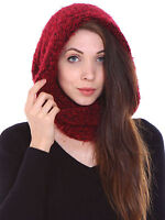Women's Winter Knit Neck Warmer Fuzzy Cowl Snood Infinity Scarves Face Balaclava