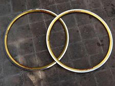 NOS pair rims  Fir Apollo SRG30 anodized gold 32 hole for clincher 700c 28""