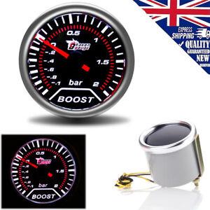 """Universal 2"""" 52mm Car LED Vacuum Pressure Racing Pointer Bar Boost Gauge UK Ship"""
