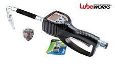 Lubeworks Preset Digital Meter Oil Control Gun/Nozzle in pint/qt./L/gal