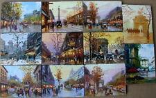 """Oil Painting on wood panel """"Paris"""" ( 2.8 x3.6"""" x 11 ea)"""