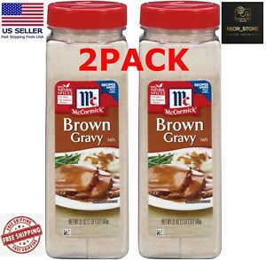 2 PACK McCormick Brown Gravy Mix (21 oz.) - FREE SHIPPING