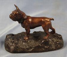 französische bulldogge bronze  seltenes original  hund dogge