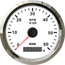 85mm White KUS Tachometer 0-6000rpm for diesel engine CMHB-WS-6KL (SV-KY07101)