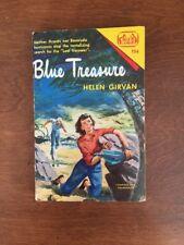 Blue Treasure By Helen Girvan Softcover 1937 Kids Adventure Novel Book