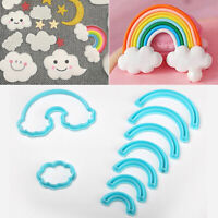 9pcs/set Rainbow Cookie Cutter Custom 3D Printed Fondant Cutter Biscuit Mold yx