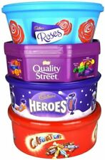 Celebration Cadbury Hero Roses Quality Street Chocolate Tub Combo Christmas Gift