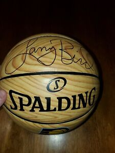 Larry Bird Signed Spalding Indiana Pacers Logo Arena Exclusive Basketball No COA