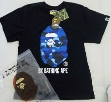 Mens Bape Black T Shirt Big Blue Ape A Bathing Ape Size Medium