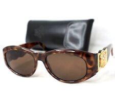 GIANNI VERSACE sunglasses 424 vintage gold baroque medusa head brown rectangle
